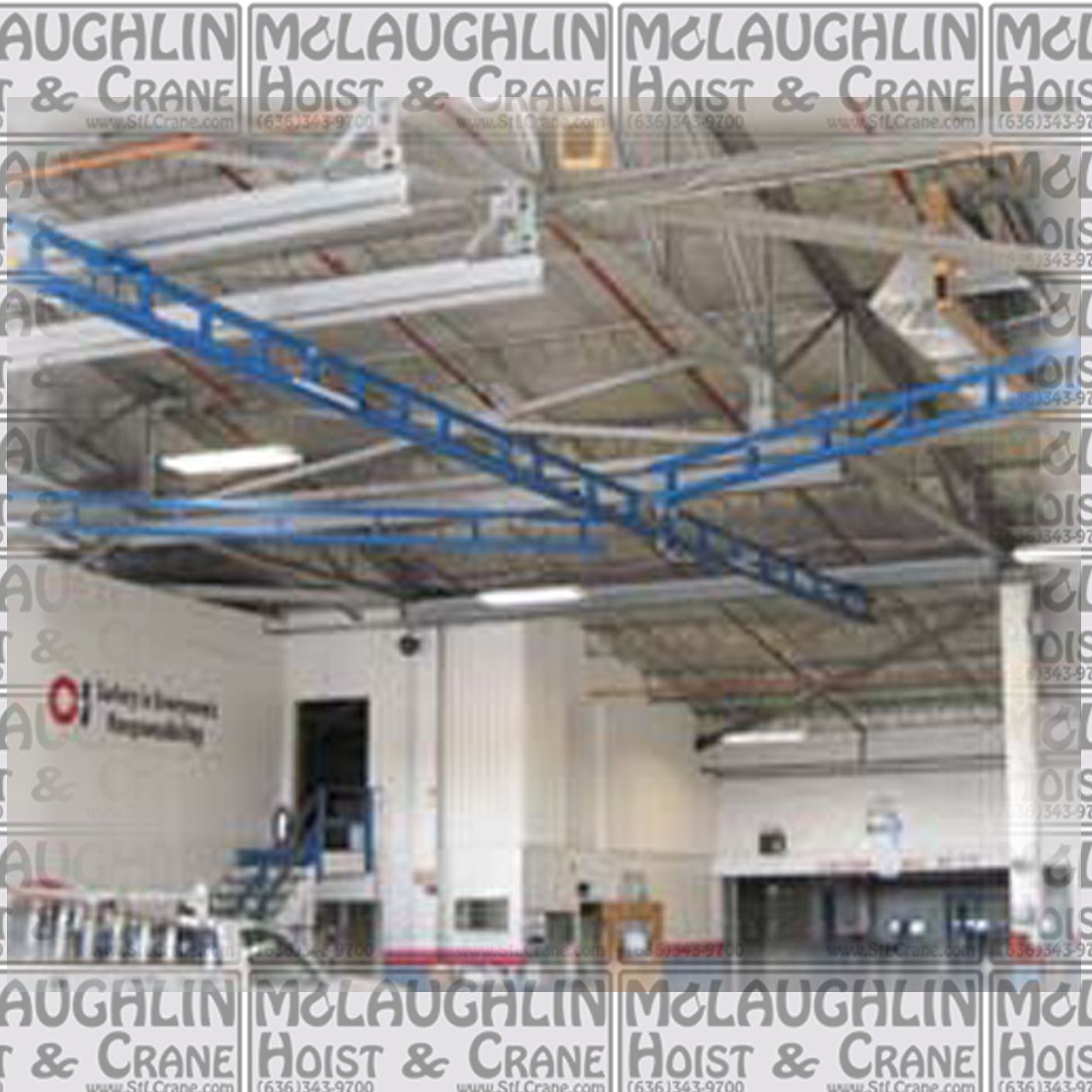 Tether Track Ceiling Mounted Monorail System