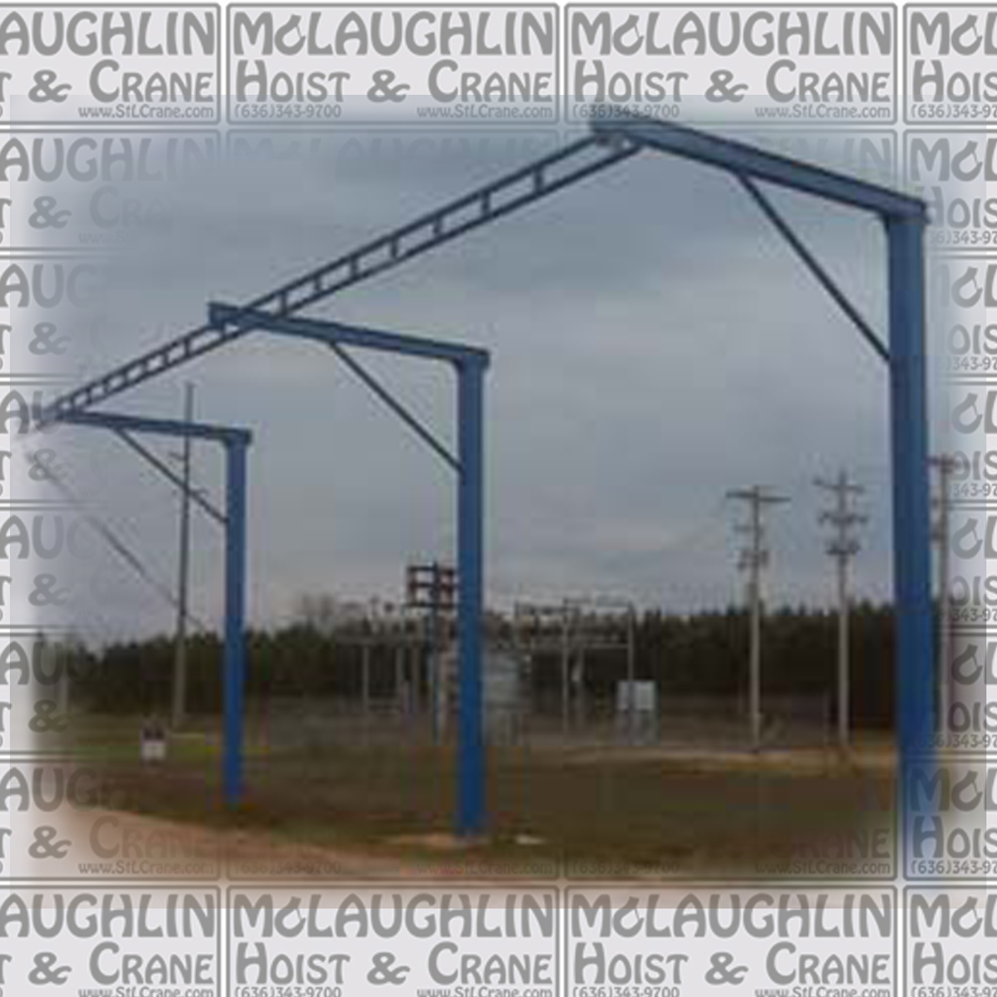 Tether Track Free Standing Monorail System